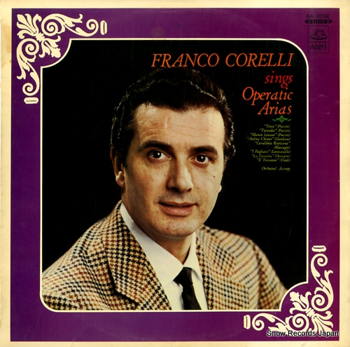 CORELLI, FRANCO sings operatic arias AA-8068 - front cover