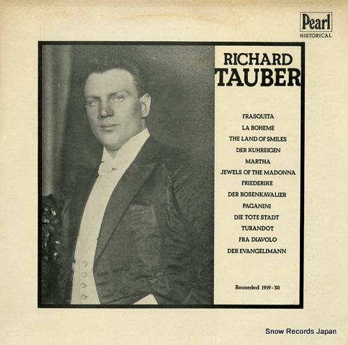TAUBER, RICHARD richard tauber in opera and operetta GEMM214 - front cover