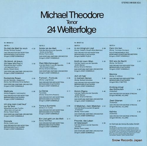 THEODORE, MICHAEL du bist die welt fur mich 86638XDU - back cover