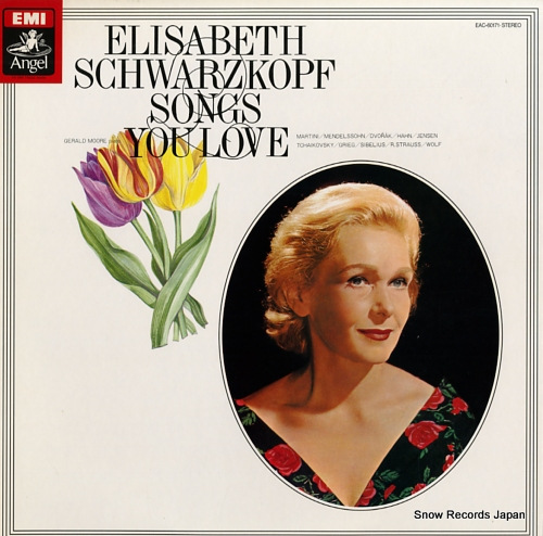 SCHWARZKOPF, ELISABETH songs you love EAC-60171 - front cover