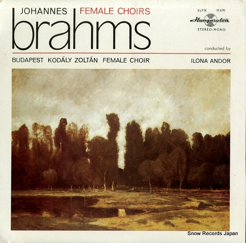 ANDOR, ILONA brahms; female choirs SLPX11691 - front cover