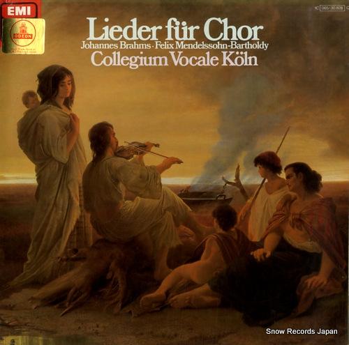 COLLEGIUM VOCALE KOLN lieder fur chor 1C065-30828 - front cover