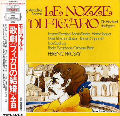 FRICSAY, FERENC mozart; le nozze di figaro MGX9003/5 - front cover