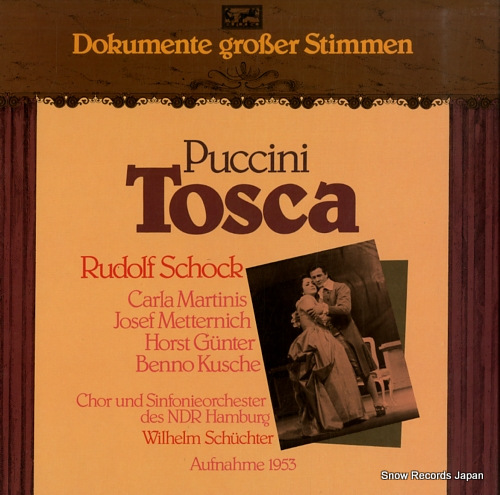 SCHUCHTER, WILHELM puccini; tosca 300727-420 - front cover