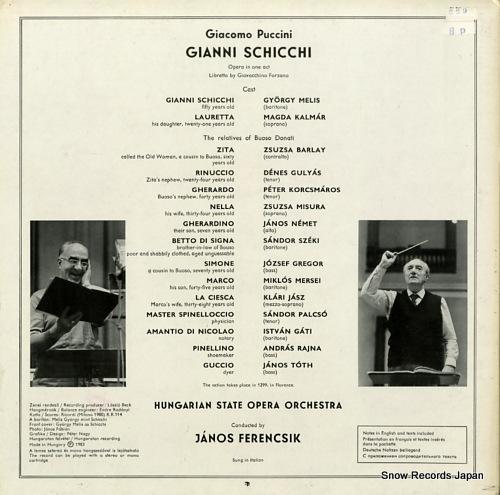 FERENCSIK, JANOS puccini; gianni schicchi SLPD12541 - back cover
