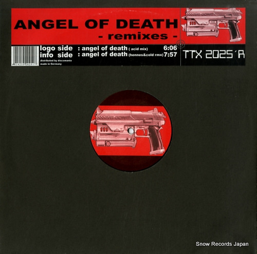 ANGEL OF DEATH angel of death -remixes- TTX2025'R - front cover