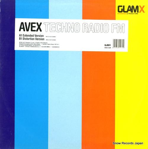 AVEX techno radio fm GLX-0013-6 - front cover