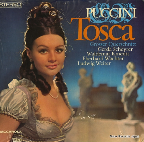 SCHEYRER, GERDA puccini; tosca 77035 - front cover