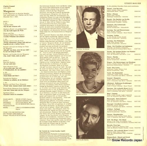 SCHUCHTER, WILHELM gounod; margarete 86813KR - back cover