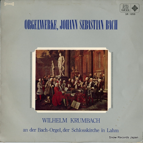 KRUMBACH, WILHELM orgelwerke, johann sebastian bach SR1059 - front cover