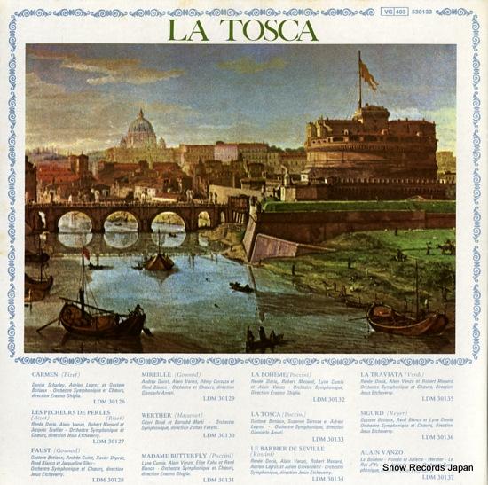SARROCA, SUZANNE la tosca 530133 - back cover
