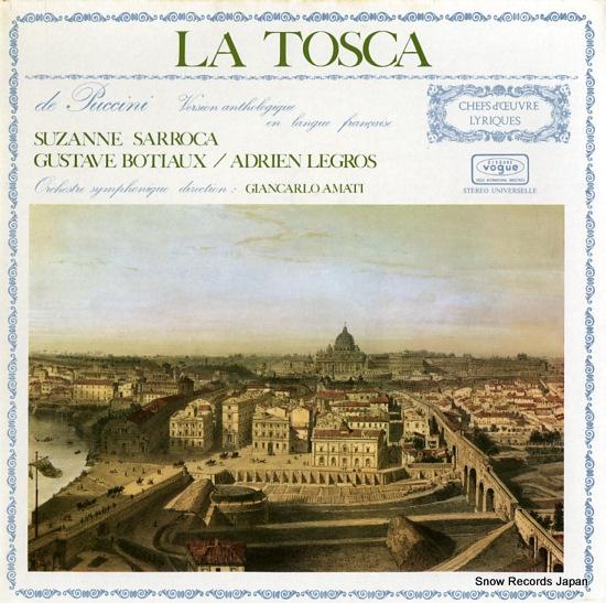 SARROCA, SUZANNE la tosca 530133 - front cover