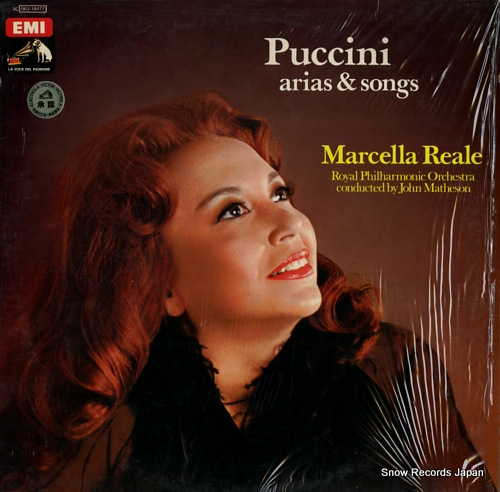 REALE, MARCELLA puccini; arias & songs 3C063-18477 - front cover