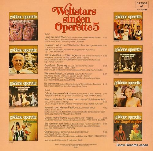 V/A weltstars singen operette 5 6.22583 - back cover