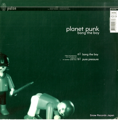 PLANET PUNK bang the boy PULSE070 - back cover