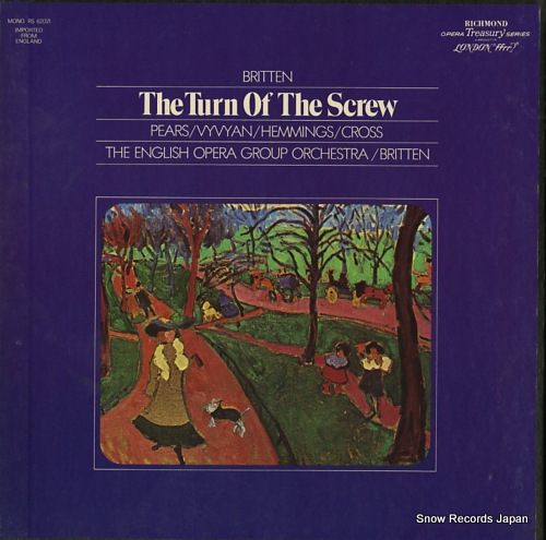 BRITTEN, BENJAMIN britten; the turn of the screw opera in two acts RS-62021 - front cover