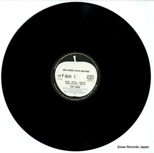 LENNON, JOHN plastic ono band AP-80174 - disc
