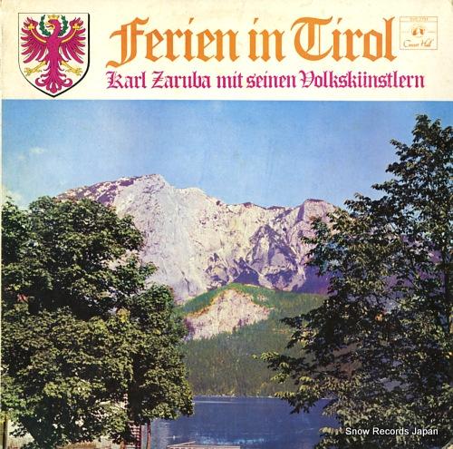 ZARUBA, KARL ferien in tirol SVS2791 - front cover