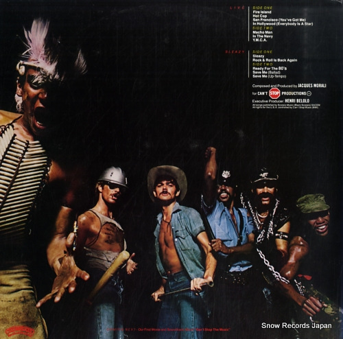 VILLAGE PEOPLE live and sleazy VIP-9569-70 - back cover