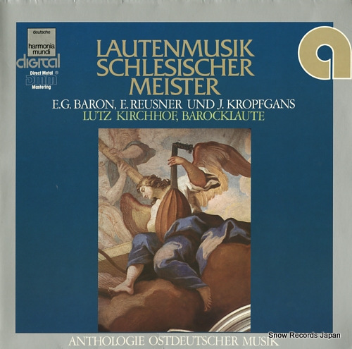 KIRCHHOF, LUTZ lautenmusik schlesischer meister HM/IOM694D - front cover