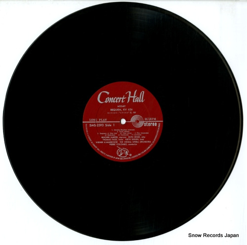COLOMBO, PIERRE mozart; requiem SMS2593 - disc