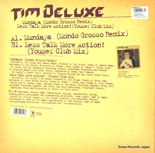 DELUXE, TIM mundaya(mondo grosso remix) BRA-17 - back cover