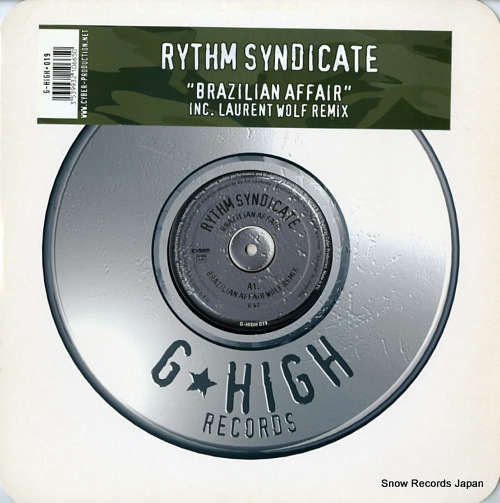 RYTHM SYNDICATE brazilian affair G-HIGH019 - front cover