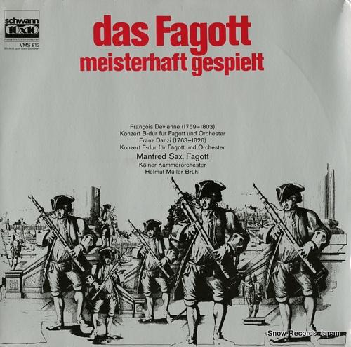MULLER-BRUHL, HELMUT devienne; das fagott meisterhaft gespielt VMS813 - front cover