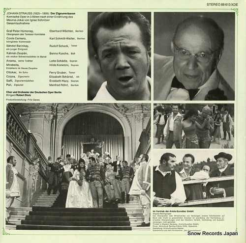 STOLZ, ROBERT strauss; der zigeunerbaron, gesamtaufnahme 88613XDE - back cover