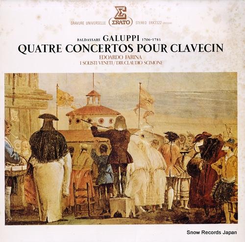 SCIMONE, CLAUDIO galupi; quatre concertos pour clavecin ERX-2322 - front cover