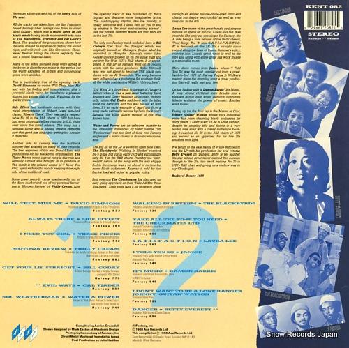 V/A fast, funky & fantastic KENT082 - back cover