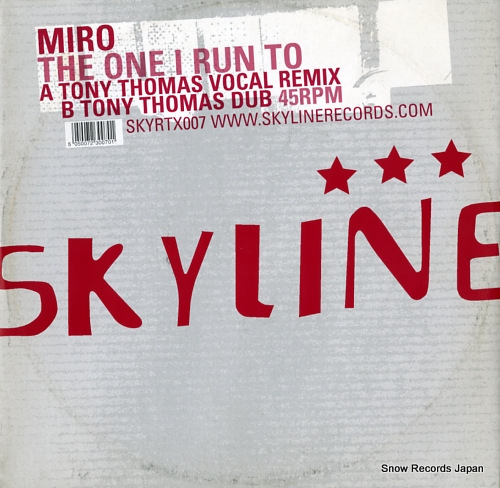 MIRO the one i run to SKYRTX007 - front cover