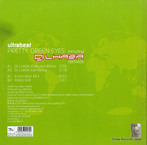 ULTRABEAT pretty green eyes NC22567-0157/0 - back cover