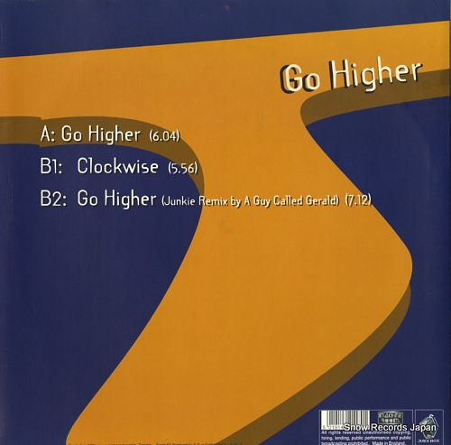 TAMSIN go higher JB032 - back cover