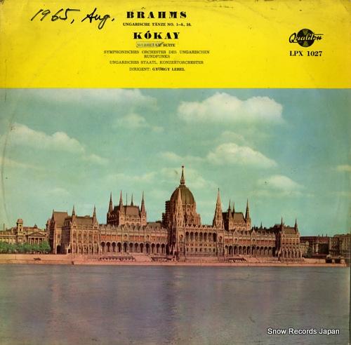 LEHEL, GYORGY brahms; ungarische tanze LPX1027 - front cover