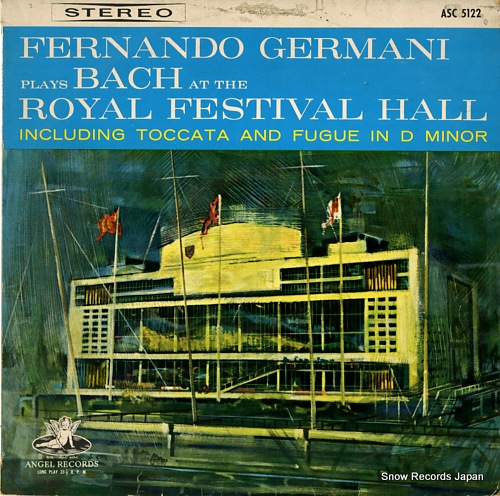 GERMANI, FERNANDO bach; including taccata and fugue in d minor ASC5122 - front cover