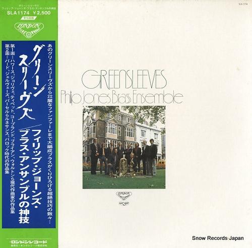 JONES, PHILIP, BRASS ENSEMBLE greensleeves philip jones brass ensembre SLA1174 - front cover