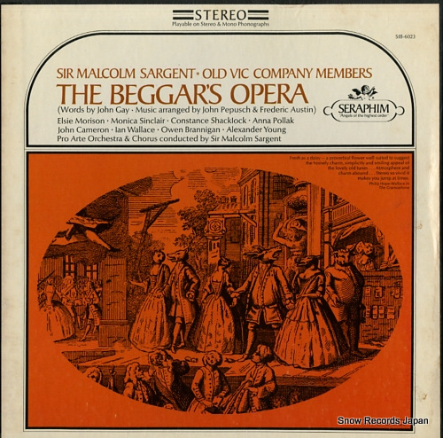 SARGENT, MALCOLM gay-pepusch & austin; the beggar's opera SIB-6023 - front cover