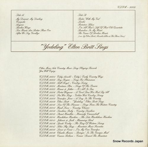 BRITT, ELTON yodeling elton britt sings CLPM-30009 - back cover