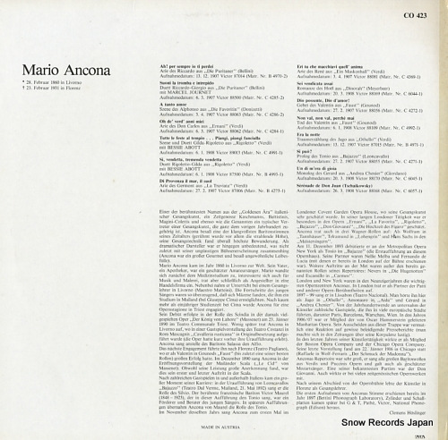 ANCONA, MARIO mario ancona 1860-1931 CO423 - back cover
