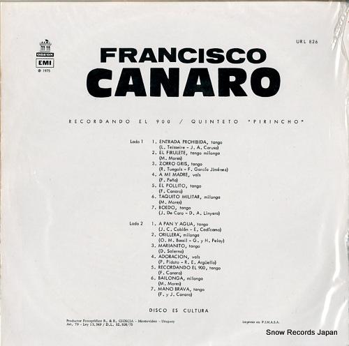 フランシスコ・カナロ recordando el 900 URL826