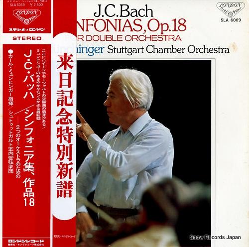 MUNCHINGER, KARL bach; sinfonias, op.18 SLA6069 - front cover