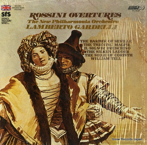 GARDELLI, LAMBERTO rossini; overtures STS15307 - front cover