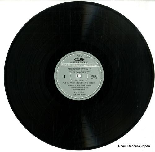 WALTER, BRUNO mahler; das lied von der erde GR-2224 - disc
