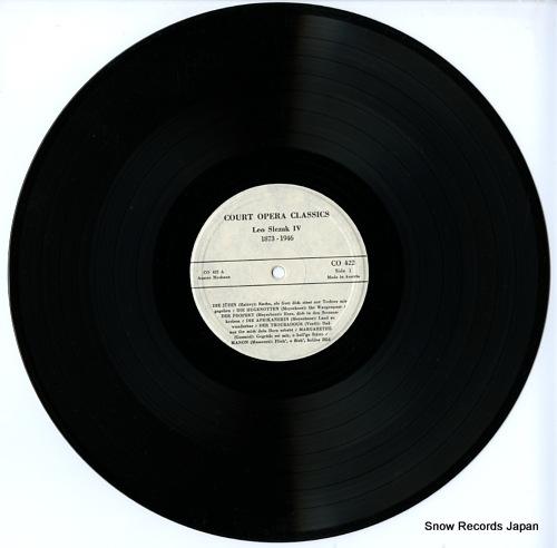 SLEZAK, LEO leo slezak iv 1873-1946 CO422 - disc