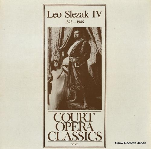 SLEZAK, LEO leo slezak iv 1873-1946 CO422 - front cover