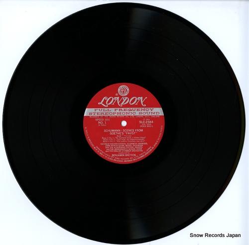 BRITTEN, BENJAMIN schumann; scenes from goethe's faust SLC2384-5 - disc