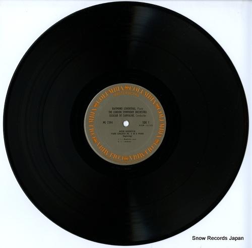 LEWENTHAL, RAYMOND rubinstein; piano concerto no.4 MS7394 - disc