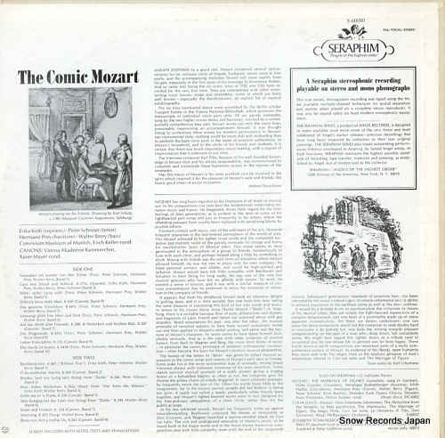 V/A the comic mozart satirical ensembles, arias and canons S-60050 - back cover