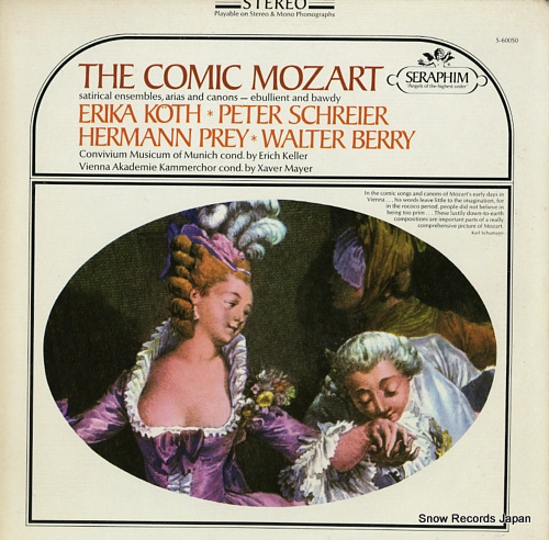 V/A the comic mozart satirical ensembles, arias and canons S-60050 - front cover